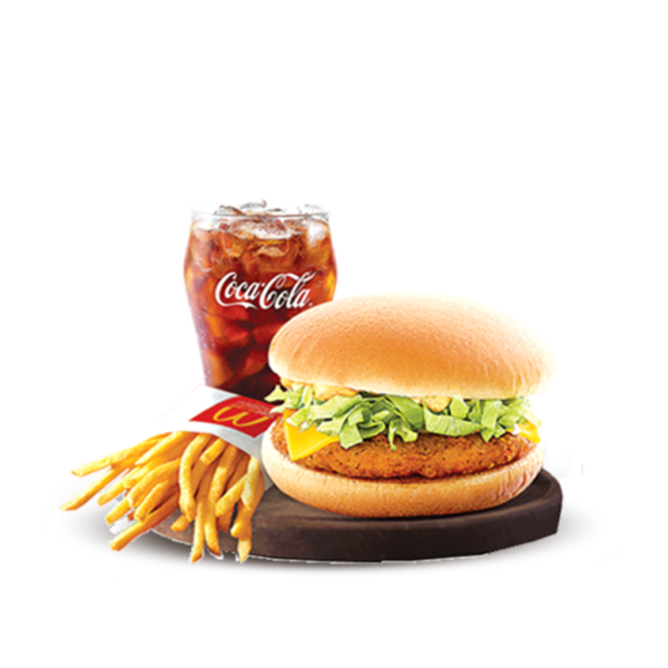 Spicy Chicken Burger with Cheese Meal
